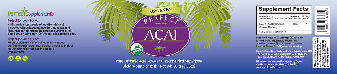 Perfect Acai Powder - The Purest Organic Acai Berry Powder ...