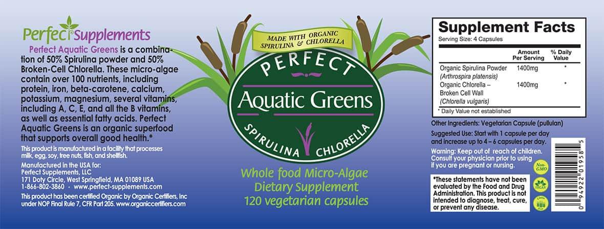 Perfect Aquatic Greens - Organic Spirulina And Chlorella ...