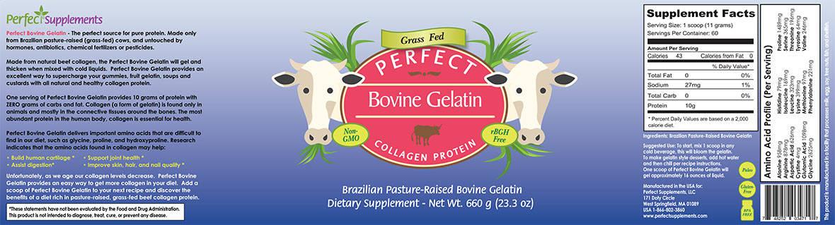 Perfect Bovine Gelatin - Collagen Protein Brazilian ...