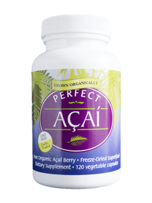 Perfect Acai - The Purest Organic Acai Berry in a Capsule - SUPERSIZED Bottle - 120 Veg Capsules